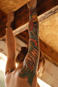 Colored tatoo