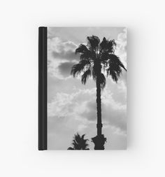 Palm Trees In Black and White Hardcover Journal by ARTbyJWP from Redbubble #notebook #journal #stationery #palmtrees #spiralnotebook  ---   Black and white capture of palm trees silhouettes on a cloudy sky. • Also buy this artwork on stationery, apparel, stickers, and more.