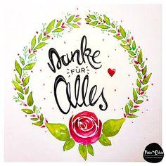 Watercolour, Aquarell, Lettering, Handlettering, Flowers, Blumen, Ranke,