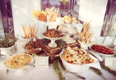A Bruschetta Bar | Anne Marie Photography