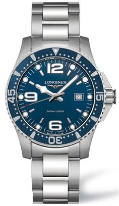 Longines HydroConquest Blue Dial Stainless Steel Mens Watch L3.640.4.96.6 >> $975.00 << | Your #1 Source for Watches and Accessories