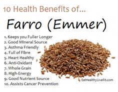 10 health benefits of Farro...