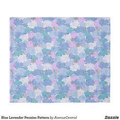 Blue Lavender Peonies Pattern Duvet Cover
