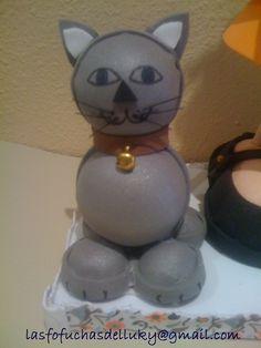 Fofucha con gato - detalle gato/Fofucha doll with cat - detail of the cat