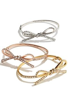 bow bangles by kate spade