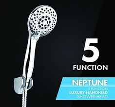 Everything you need to know about the best handheld showerheads. Best Handheld Shower Head, Shower Head Reviews, Hand Held Shower, Rain Shower, Shower Heads, Barware, Luxury, Stuff To Buy, Showers