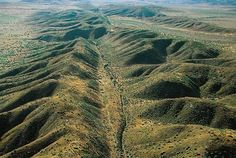San Andreas fault, Carrizo Plain, California