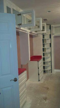 8ft spinning shoe rack custom closet #cabinet #googleme #woodwork #mikescustomwoodwork #followme