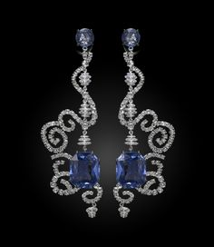 Spellbound Sapphire Earrings :: Carnet by Michelle Ong