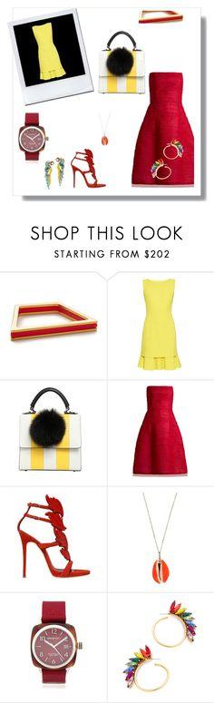 """Enjoy The Fashion..##"" by yagna ❤ liked on Polyvore featuring Marni, Oscar de la Renta, Les Petits Joueurs, Giuseppe Zanotti, Aurélie Bidermann, Briston, Elizabeth Cole and vintage"