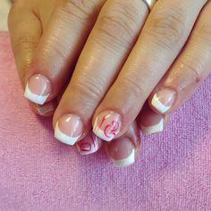 Short gelnails for nailbiter, gelpaint, mosaic