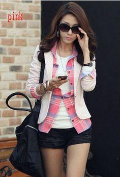 Women OL Casual Long Sleeve Blazers Slim Coat ladies jackets