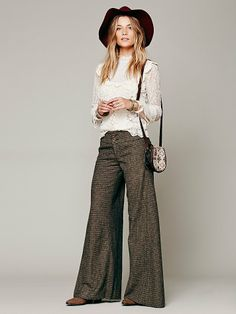 Free People Tweed Extreme Flare at Free People Clothing Boutique