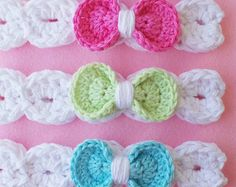 CROCHET HEADBAND Pattern BABYS headband pattern Girls headband pattern 8 sizes Download pattern Pdf Baby girl head band Bow headband Usa Pdf