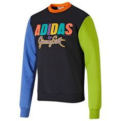 new style 243ed 19a9c jeremy scott sweatshirt - Google Search Crew Sweatshirts, Adidas Outfit, Jeremy  Scott, Adidas