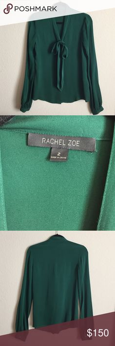 Rachel Zoe Silk Blouse Great condition worn only a couple times no stains no defects Rachel Zoe Tops Blouses