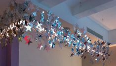 Made to measure suspended starry light #interiordesign #mirror #stars #lighting
