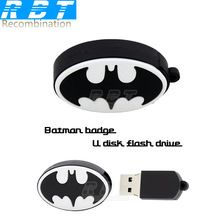 2015 RBT Real Capaciteit High Speed ​​Batman Shield 8GB 16GB 32GB Pen Drive Pendrive USB Flash Drive Voor pc gratis verzending (China (vasteland))