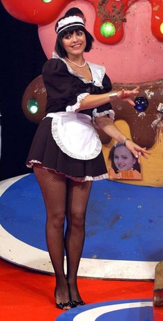 Short Skirts, Short Dresses, Carol Vorderman, Tights And Heels, Maid Outfit, Holly Willoughby, Vintage Tv, Female Stars, In Pantyhose