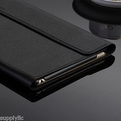 Black Ultra Slim Magnetic Leather Smart Cover Stand Case For Apple iPad mini4