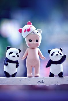 Little Pandas and Baby Girl Miniatures.