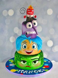 Super Birthday Cake Fondant Girl Inside Out Ideas Fondant Girl, Fondant Cakes, Cupcake Cakes, Disney Themed Cakes, Disney Cakes, Fancy Cakes, Cute Cakes, Inside Out Cakes, Movie Cakes