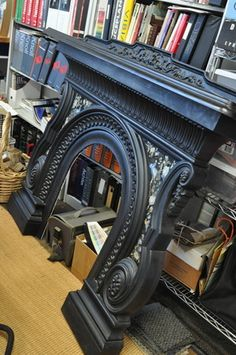 Love this antique fireplace