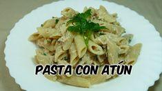 Pasta con Atún - Receta casera fácil Pasta Integral, Pasta Casera, Risotto, Rice, Chicken, Meat, Ethnic Recipes, Food, Youtube