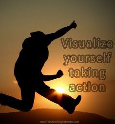 When you visualize yourself taking action, you're more likely to do it. This will help you reach success more than visualizing results alone.  #quote