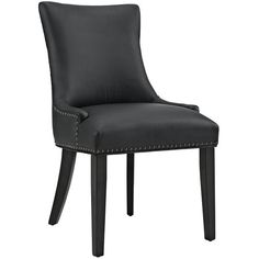 Modway EEI-2228 Marquis Faux Leather Dining Chair. Bequeath distinction with the Marquis Dining Chair. Charm and elegance adorn this luxuriously button tufted dining chair complete with sleek curves and antique copper nailhead trim. Featuring dense foam padding, fine vinyl upholstery, solid wood frame, and non-marking foot glides, Marquis is an elegant dining chair perfect for the modern home.  Set Includes: One - Marquis Dining Chair