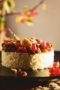 Pilau Especiado con Granada Cheesecake, Desserts, Food, Rice, Vegan Dishes, Grenades, Recipes, Tailgate Desserts, Deserts
