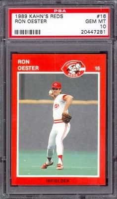 1989 Kahn's Reds #16 Ron Oester Reds PSA 10 pop 3 by Kahn's. $6.00. 1989 Kahn's Reds #16 Ron Oester Reds PSA 10 pop 3. If multiple items appear in the image, the item you are purchasing is the one described in the title.