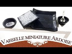 Tuto Fimo miniature : vaisselles imitation ardoise - Polymer Clay Tutorial - YouTube