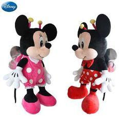 0ba5eb092a48 Genuine Disney Insect Mickey Mouse Minnie Kawaii Plush Cotton Stuffed  Animal Toy Pet Toys