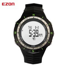 109.00$  Buy here - http://alipcc.worldwells.pw/go.php?t=32722046017 - Top design men EZON mountaineering outdoor sports watch men's fashion watches waterproof multi-function compass chronograph H005 109.00$