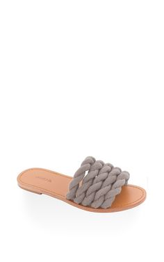 Capitaine slide in stone by MASLIN & CO for Preorder on Moda Operandi