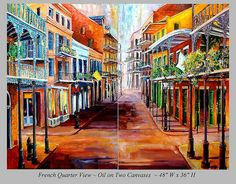 Vibrant original oil and paintings of New Orleans by Diane Millsap featuring the French Quarter, Frenchmen Street, Jazz, Garden District, and more. New Orleans Art, South African Art, New Orleans French Quarter, Art Boards, Places Ive Been, Street, Artist, Artwork, Canvases