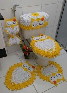 Image gallery – Page 348325352414456301 – Artofit Crochet Flower Patterns, Crochet Stitches Patterns, Crochet Patterns For Beginners, Thread Crochet, Hat Patterns, Owl Bathroom Set, Bathroom Crafts, Crochet Diagram, Crochet Motif
