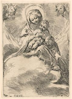 Etching. Federico Barocci: Madonna in the Clouds (17.50.18.147)   Heilbrunn Timeline of Art History   The Metropolitan Museum of Art