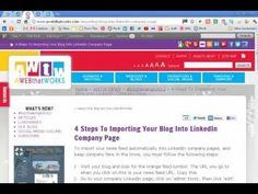 Importing Your Blog Into LinkedIn Company Page