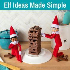 Easy Elf on the Shelf Ideas   Simple Elf Ideas   Easiest Elf Ideas Christmas Rock, Christmas Tree Cards, Green Christmas, Christmas Stuff, Christmas Time, Christmas Ideas, Danish Christmas, Christmas Cooking, Christmas Traditions