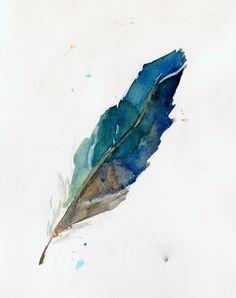 Feather Art Print by Megan T Gibbens