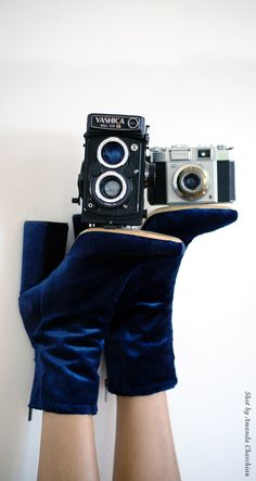 Ellery Velvet Boots