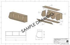 Storage Bins Woodworking Plans by irontimber on Etsy