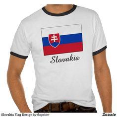 Slovakia Flag Design Shirt