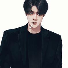 oh sehun cr: Kaisoo, Chanbaek Fanart, Baekhyun Fanart, Kpop Fanart, Sehun, Kpop Exo, Exo Anime, Anime Art, Exo Fan Art