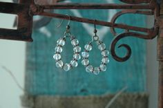 Pretty Crystal Clear Faceted Glass Beads Copper by MemesShoppe, $28.00