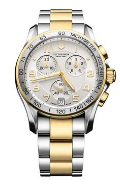 Victorinox Swiss Army® 'Chrono Classic' Bracelet Watch available at #Nordstrom    I MUST HAVE THIS!!!!!!!!