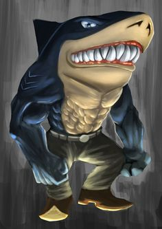Street sharks - Ripster by Elrad-o on DeviantArt Realistic Cartoons, Cool Cartoons, Time Cartoon, Cartoon Tv, Shark Pictures, Shark Man, Muscle Hunks, Great White Shark, Merfolk