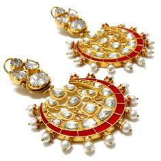 Red Royal Elegant Signature Earrings